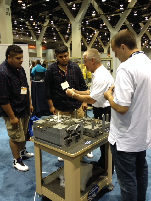 Janler Corp educates student attendees on mold manufacturing at IMTS